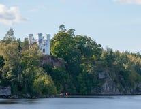 Kaplica w Parkowym Monrepos w Vyborg na wyspie Zdjęcie Royalty Free