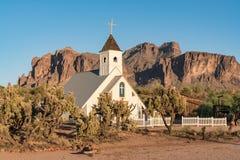 Kaplica w przesąd górach Arizona obrazy royalty free
