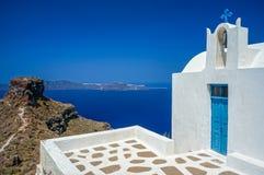 Kaplica w Santorini Fotografia Stock