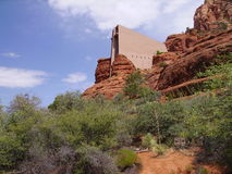 Kaplica w skałach Zdjęcia Royalty Free