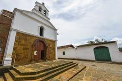 Kaplica Wzrastający Jezus w Barichara, Kolumbia obrazy royalty free