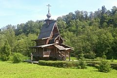 kaplicy halnego perm Russia biały drewniany Obrazy Royalty Free