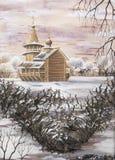 kaplicy nieruchomości kizhi pomnik ilustracja wektor