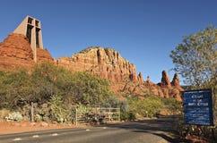 kaplicy przecinający święty sedona widok Zdjęcie Stock