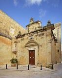 Kaplicy St Agatha w Mdina Malta Zdjęcia Stock