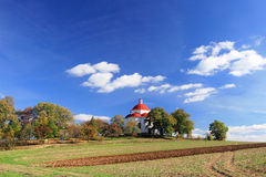kaplicy wsi lato wioska fotografia royalty free