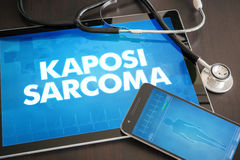 Kaposi sarcoma (cancer type) diagnosis medical concept on tablet Royalty Free Stock Image