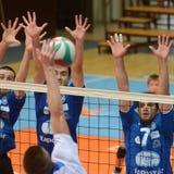 kaposvar πετοσφαίριση kazincbarcika παιχνι&del Στοκ εικόνες με δικαίωμα ελεύθερης χρήσης