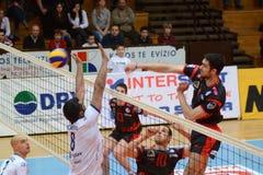 Kaposvar - Anhovo volleyball game Stock Image