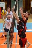 Kaposvar - Anhovo Volleyballspiel Stockfoto