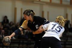 Kaposvar - Bacsbokod handball game Stock Images