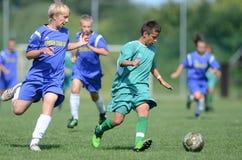 Kaposvar - Baja U14 Fußballspiel Stockfoto