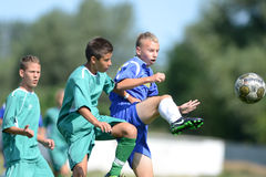 Kaposvar - Baja U14 soccer game Stock Photo