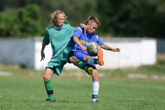 Kaposvar - Baja U14 soccer game Stock Photos