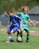 Kaposvar - Baja U14 soccer game Stock Photography