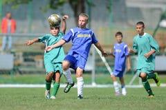 Kaposvar - Baja U14 soccer game Royalty Free Stock Images