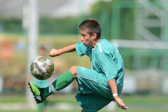 Kaposvar - Baja U14 voetbalspel royalty-vrije stock afbeeldingen