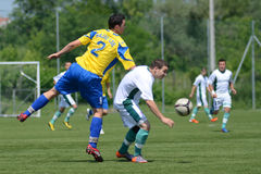 Kaposvar - Baja U19 soccer game Royalty Free Stock Photography