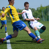 Kaposvar - Baja U19 soccer game Royalty Free Stock Image