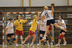 Kaposvar - Balatonboglar handball game Royalty Free Stock Photo