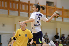Kaposvar - Balatonboglar handball game Stock Image