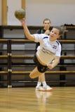 Kaposvar - Balatonboglar Handballspiel Stockbild