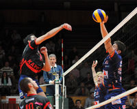 Kaposvar - Bled volleyball game Royalty Free Stock Photo