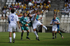 Kaposvar - Brescia u18 soccer game Stock Images