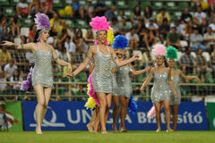 Kaposvar - Brescia u18 soccer game Royalty Free Stock Photo