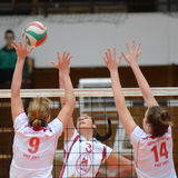 Kaposvar - BSE volleyball game Royalty Free Stock Photos