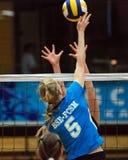 Kaposvar - BSE volleyballspel Stock Afbeelding