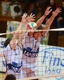 Kaposvar - Csepel Volleyballspiel Lizenzfreie Stockfotos