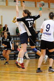 Kaposvar - Csurgo handball game Royalty Free Stock Photo