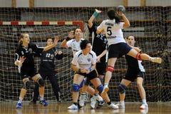 Kaposvar - Csurgo handbalspel stock foto