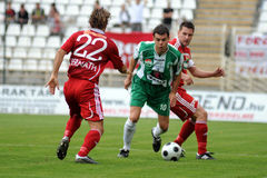 Kaposvar-Debrecen soccer game Royalty Free Stock Image