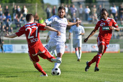Kaposvar - Debrecen soccer match Royalty Free Stock Photo