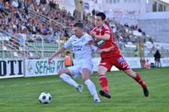 Kaposvar - Debrecen soccer match Royalty Free Stock Photography