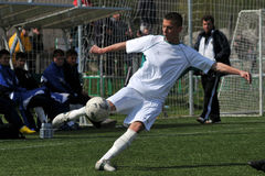 Kaposvar - Debrecen u17 soccer game Royalty Free Stock Photography