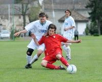 Kaposvar - Debrecen U19 soccer game Royalty Free Stock Photos