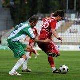 Kaposvar - Debrecen voetbalspel Royalty-vrije Stock Fotografie