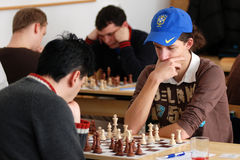 Kaposvar - Decs chess competition Stock Photography