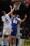 Kaposvar - Dombovar basketball game Royalty Free Stock Photography