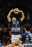 Kaposvar - Dunaferr volleyball game Royalty Free Stock Photos