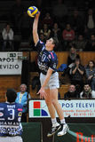 Kaposvar - Dunaferr volleyball game Royalty Free Stock Photography
