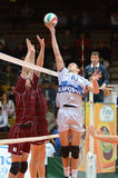 Kaposvar - Dunaferr volleyball game Royalty Free Stock Photo