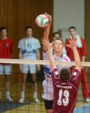 Kaposvar - Dunaferr volleyball game Stock Photo
