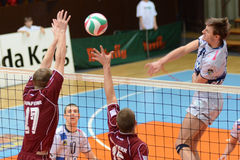 Kaposvar - Dunaferr volleyball game Stock Photos