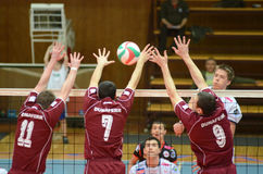 Kaposvar - Dunaferr volleyball game Stock Photo