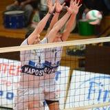 Kaposvar - Dunaferr Volleyballspiel Lizenzfreie Stockfotografie