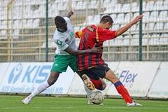 Kaposvar - Eger soccer game Stock Photography